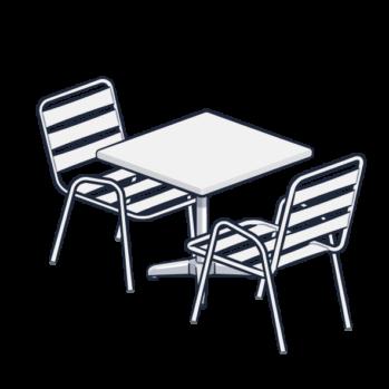 <b>TABLE ET CHAISES DE BISTROT</b>