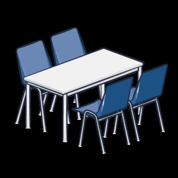 <b>TABLE ET CHAISES</b>